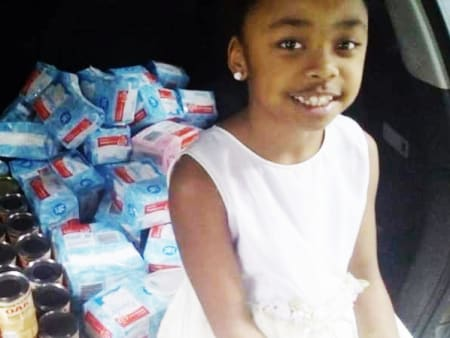 Child philanthropist, Maiyah age 8